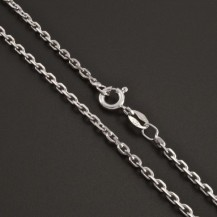 Stříbrný řetízek rhodiovaný typ anker 1028