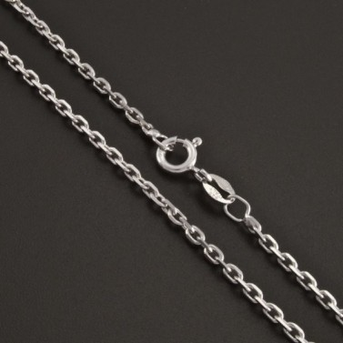 Stříbrný řetízek rhodiovaný typ anker 1028 č.1