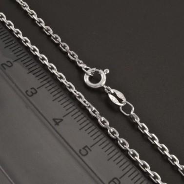 Stříbrný řetízek rhodiovaný typ anker 1028 č.2