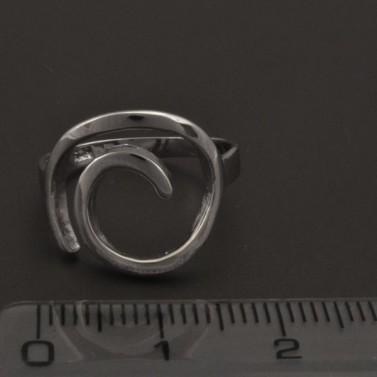 Stříbrný prsten spirála 1106 č.2