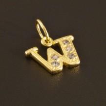 Zlatý přívěsek písmeno W 1289