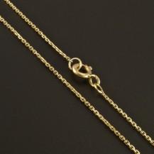Slabý zlatý řetízek anker 1337