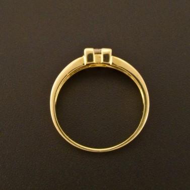 Zlatý zásnubní prsten čtvercový zirkon 1374 č.3