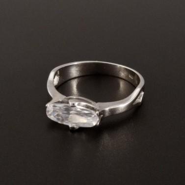 Zásnubní prsten bílé zlato oválný zirkon 1377 č.1