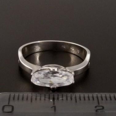 Zásnubní prsten bílé zlato oválný zirkon 1377 č.2