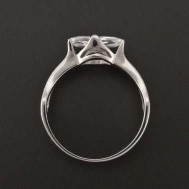 Zásnubní prsten bílé zlato oválný zirkon 1377 č.3