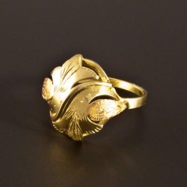 Zlatý prsten montovaný ručně 1396 č.1