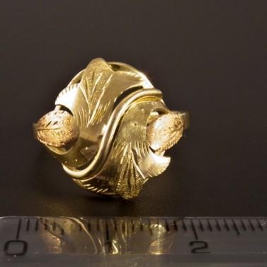 Zlatý prsten montovaný ručně 1396 č.2