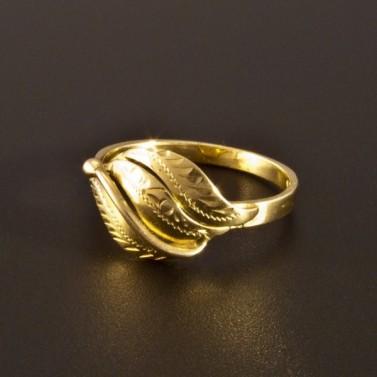 Zlatý prsten ruční rytina 1401 č.1