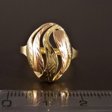 Zlatý prsten červené a žluté zlato 1416 č.2