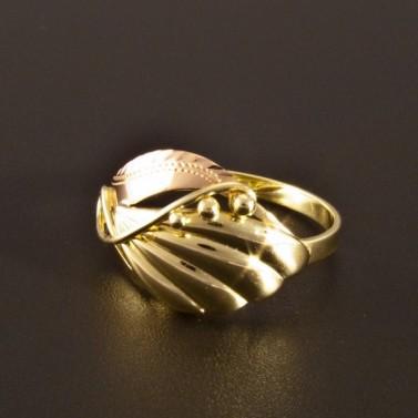 Zlatý prsten ručně montovaný 1422 č.1