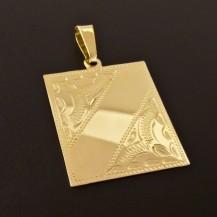 Zlatý přívěsek s destičkou 1486