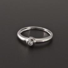 Zásnubní prsten bílé zlato zirkon 1945