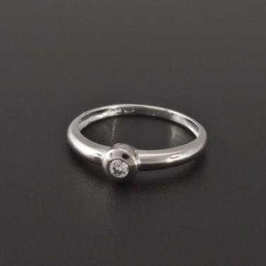 Zásnubní prsten bílé zlato zirkon 1945 č.1