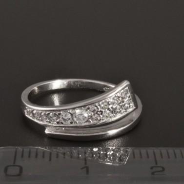 Prsten z bílého zlata se zirkony 1946 č.2
