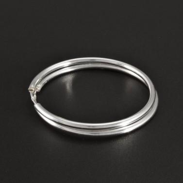 Stříbrné hladké kruhy průměr 40 č.1