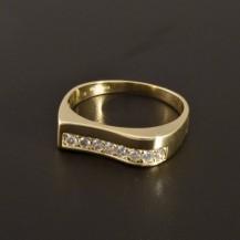 Elegantní zlatý prsten 2161