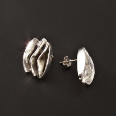 Nápadité masivní stříbrné náušnice 2208 č.2