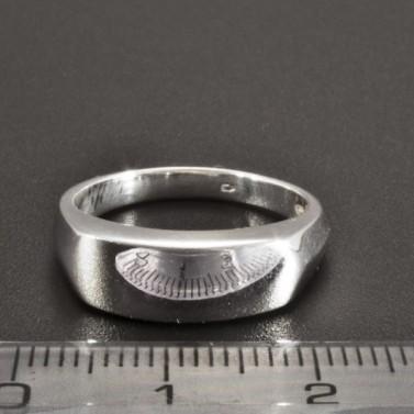 Jednoduchý masivní stříbrný prsten 2244 č.2
