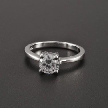 Stříbrný prsten zirkon broušený 2267 č.1