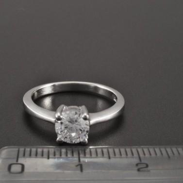 Stříbrný prsten zirkon broušený 2267 č.2