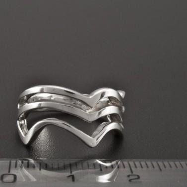 Prořezávaný prsten celostříbrný 2321 č.2