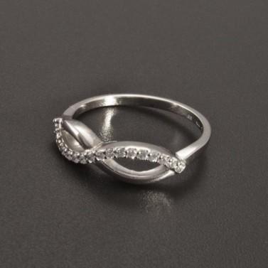 Prsten zirkony bílé zlato 2341 č.1