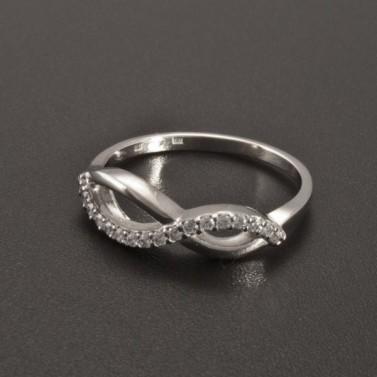 Prsten zirkony bílé zlato 2341 č.2