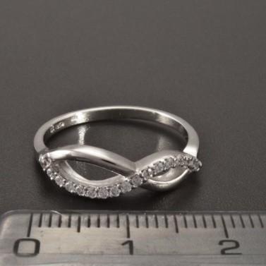 Prsten zirkony bílé zlato 2341 č.3