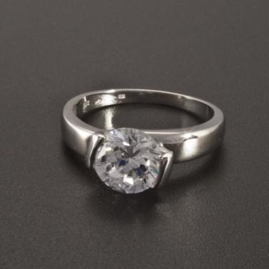 Prsten zásnubní bílé zlato 2343 č.1