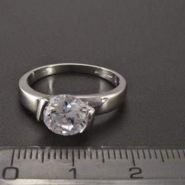 Prsten zásnubní bílé zlato 2343 č.2