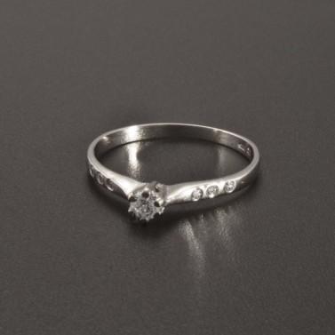 Jemný prsten zásnubní z bílého zlata 2344 č.1