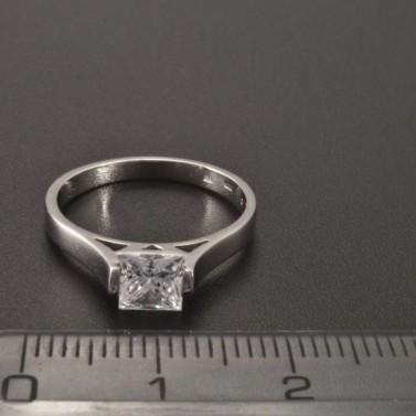 Zásnubní prsten čtvercový zirkon 2345 č.2