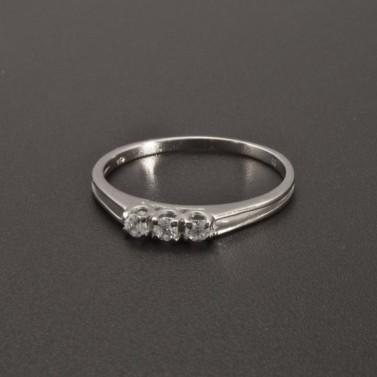 Jemný prstýnek z bílého zlata 2347 č.1