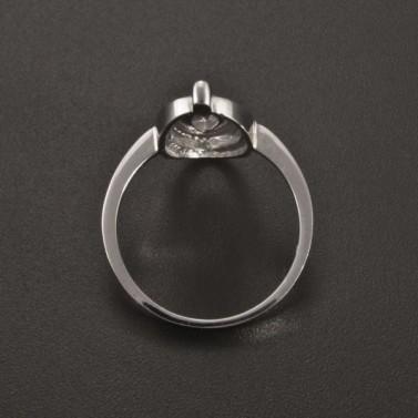 Prsten bílé zlato oválná ozdoba 2354 č.4