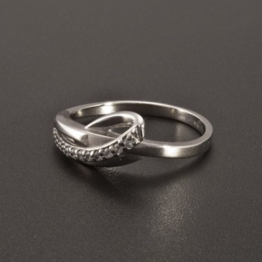 Originální prsten bílé zlato drobné zirkony 2355 č.2