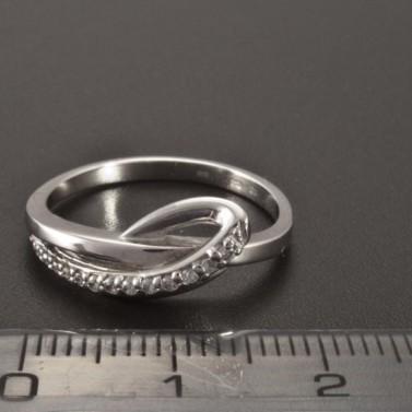 Originální prsten bílé zlato drobné zirkony 2355 č.3