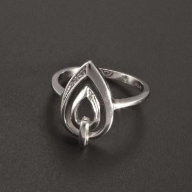 Prsten se zirkony bílé zlato 2356 č.1