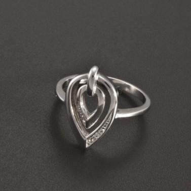 Prsten se zirkony bílé zlato 2356 č.2