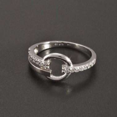 Prsten z bílého zlata ozdoba kroužek 2357 č.1