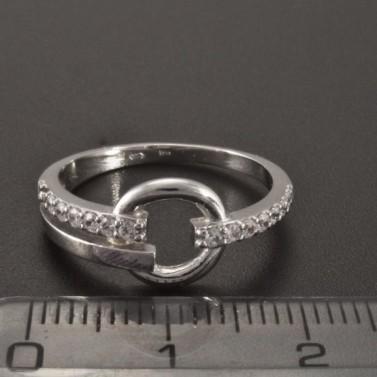 Prsten z bílého zlata ozdoba kroužek 2357 č.3