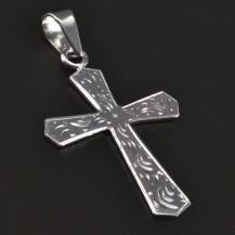Přívěsek křížek z bílého zlata 2389