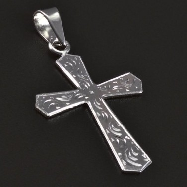 Přívěsek křížek z bílého zlata 2389 č.1
