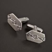 Stříbrné manžetové knoflíky ruční rytina 2403
