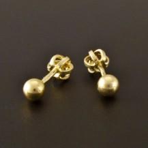Zlaté náušnice malé kuličky 2419