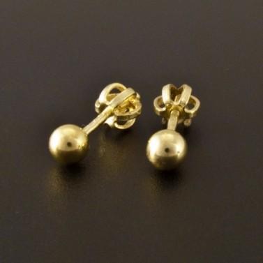 Zlaté náušnice malé kuličky 2419 č.2