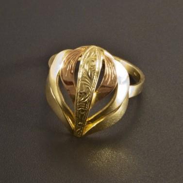 Zlatý prsten s ruční rytinou 2548 č.1