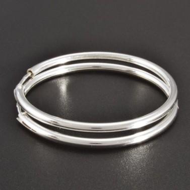Hladké stříbrné kruhy průměr 2574 č.1