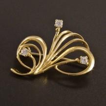 Zlatá elegantní brož 2614