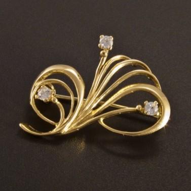 Zlatá elegantní brož 2614 č.1